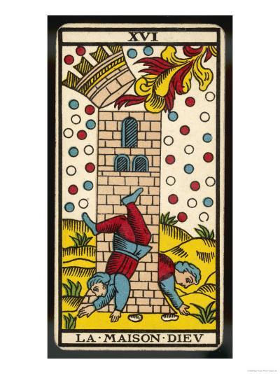 Tarot: 16 La Maison Dieu, The Tower--Giclee Print