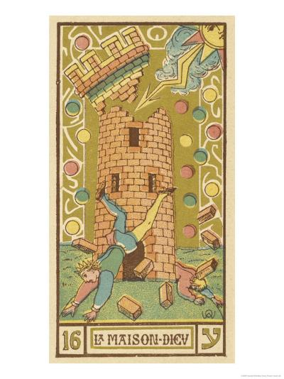 Tarot: 16 La Maison Dieu, The Tower-Oswald Wirth-Giclee Print