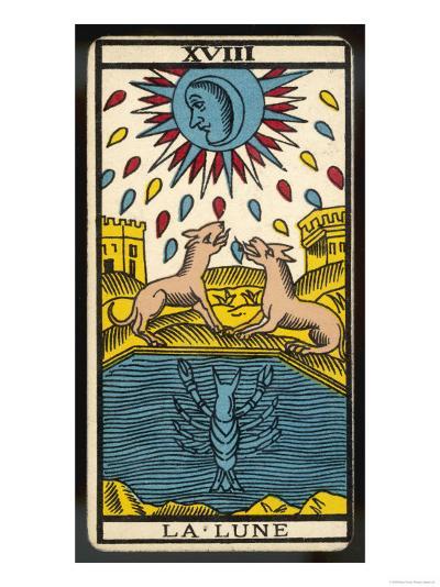 Tarot: 18 La Lune, The Moon--Giclee Print