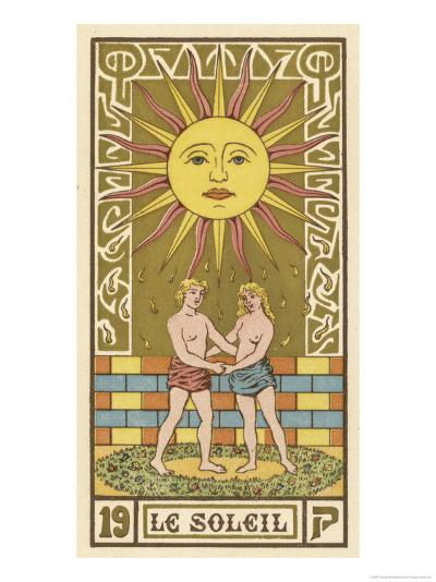 Tarot: 19 Le Soleil, The Sun-Oswald Wirth-Giclee Print