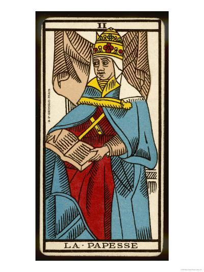 Tarot: 2 La Papesse, The Female Pope--Giclee Print
