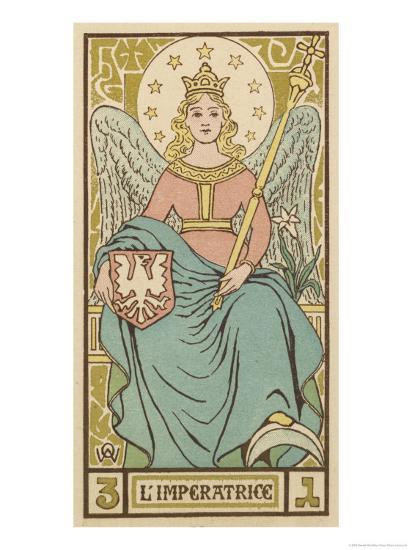 Tarot: 3 L'Imperatrice, The Empress-Oswald Wirth-Giclee Print