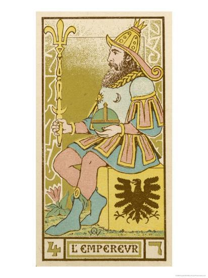Tarot: 4 L'Empereur, The Emperor-Oswald Wirth-Giclee Print