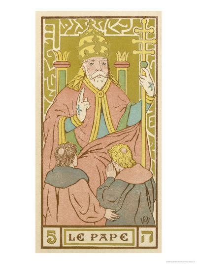 Tarot: 5 Le Pape, The Pope-Oswald Wirth-Giclee Print
