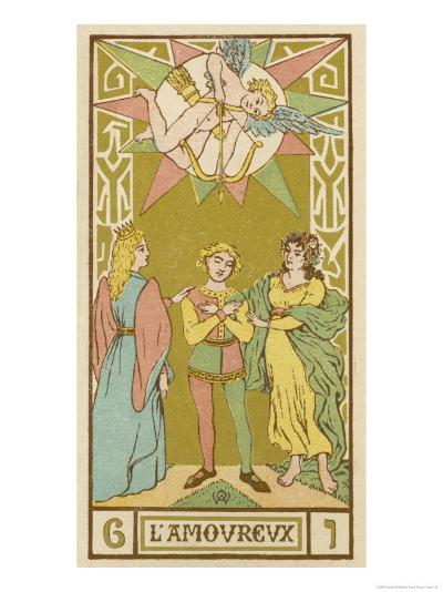 Tarot: 6 L'Amoureux, The Lover-Oswald Wirth-Giclee Print