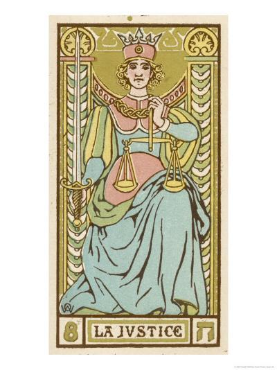Tarot: 8 La Justice-Oswald Wirth-Giclee Print