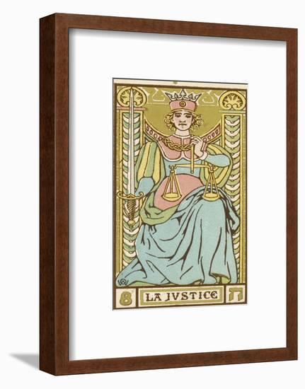 Tarot: 8 La Justice-Oswald Wirth-Framed Giclee Print