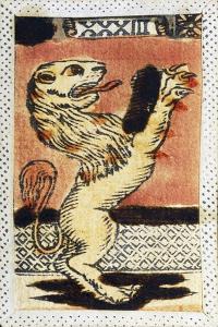 Tarot Card for Leo, 16th Century, Italy