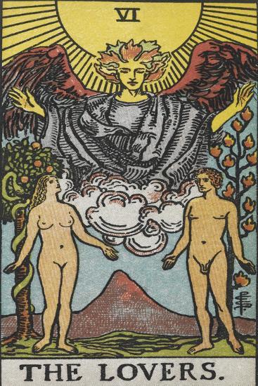 Tarot Card With a Nude Man and Woman-Arthur Edward Waite-Giclee Print