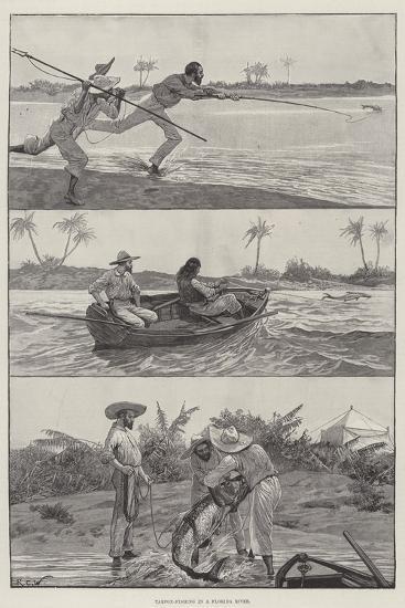 Tarpon-Fishing in a Florida River-Richard Caton Woodville II-Giclee Print