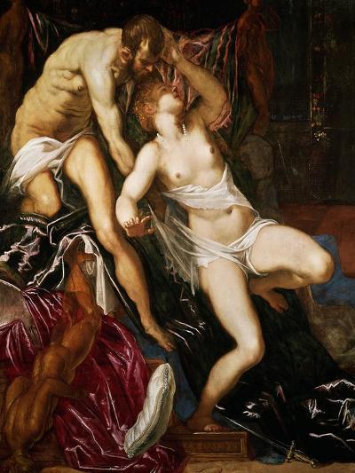 Tarquinus and Lucretia, 1559-Jacopo Robusti Tintoretto-Giclee Print