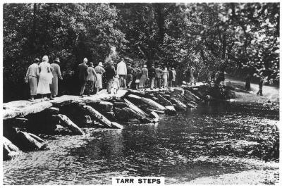 Tarr Steps, across the River Barle in Exmoor, Somerset, 1937--Giclee Print