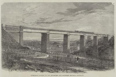 Tarradale Viaduct, on the Melbourne and Sandhurst Railway, Australia--Giclee Print
