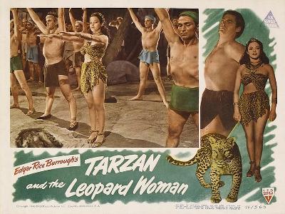 Tarzan and the Leopard Woman, 1946--Art Print