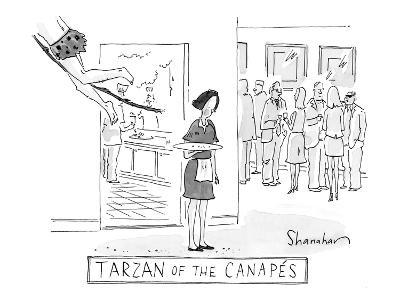"""Tarzan of the Canap?s"" - New Yorker Cartoon-Danny Shanahan-Premium Giclee Print"