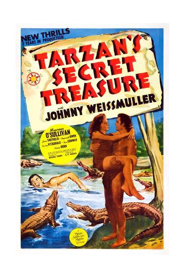 Tarzan's Secret Treasure--Giclee Print