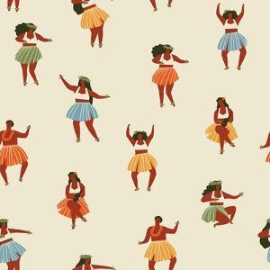 Girls Playing Ukulele and Dancing Hula by Tasiania
