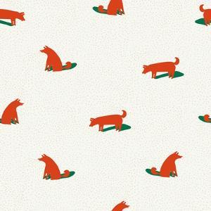 Seamless Dog Pattern by Tasiania