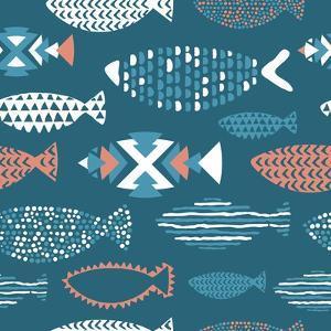 Tribal Fish Pattern by Tasiania