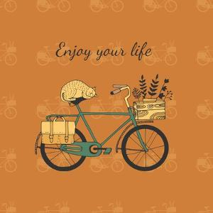 Vintage Bicycle Illustration by Tasiania
