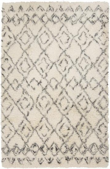 Tasman Shag Wool Rug - Ivory 5' x 8' *--Home Accessories