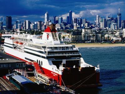 Tasmania Ferry, Station Pier, Port Melbourne, Melbourne, Victoria, Australia-Richard Cummins-Photographic Print