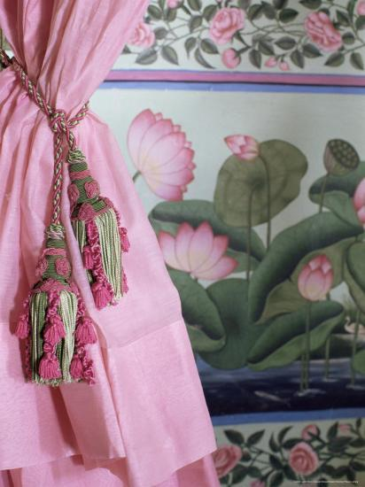 tassel wall decor.htm tassels  pink curtains and painted walls  the shiv niwas palace  painted walls  the shiv niwas palace