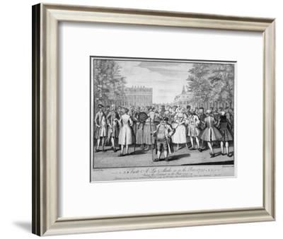 'Taste a-la-mode as in the year 1735 - being the contrast to the year 1745', 1749-Evan Davis-Framed Giclee Print