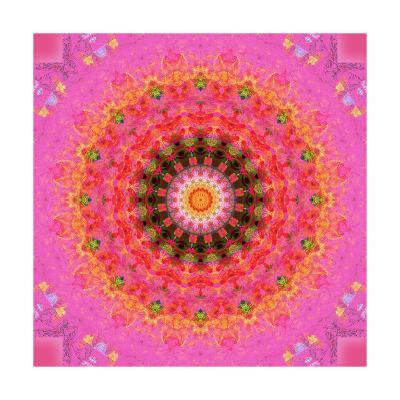 Taste Of Raspberry Mandala-Alaya Gadeh-Art Print