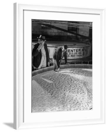 Tasters Testing Whiskey at Jack Daniels Distillery-Ed Clark-Framed Photographic Print