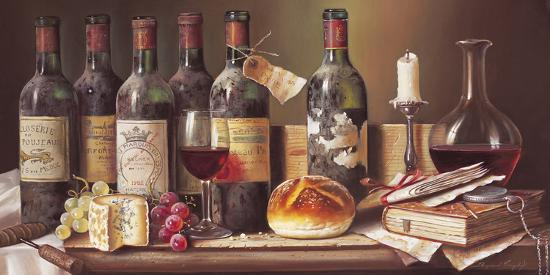Tasting Clarets-Raymond Campbell-Giclee Print