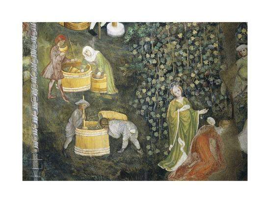 Tasting New Must Fresco Attributed to Bohemian Master Venceslao--Giclee Print