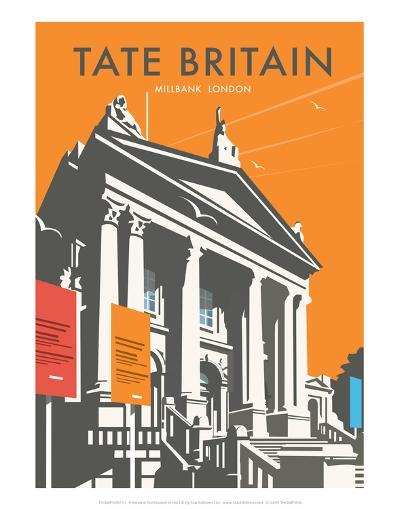 Tate Britain (Orange) - Dave Thompson Contemporary Travel Print-Dave Thompson-Art Print