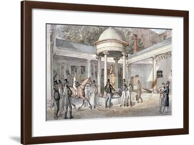 Tattersall's Horse Sale Yard, Hyde Park Corner, Westminster, London, C1850--Framed Giclee Print