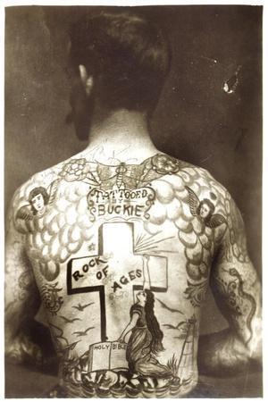 Tattoed Man--Stretched Canvas Print