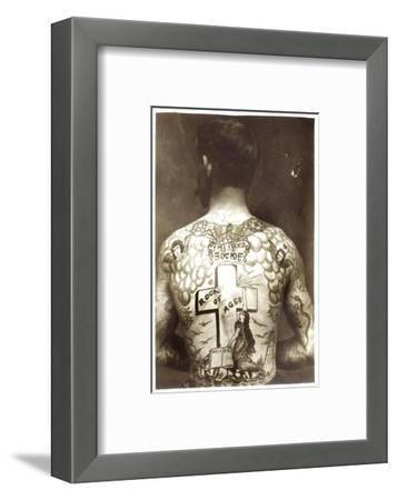 Tattoed Man--Framed Photographic Print
