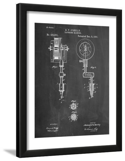 Tattoing Machine Patent 1891--Framed Art Print