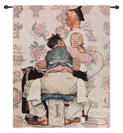 Tattoo Artist-Norman Rockwell-Wall Tapestry