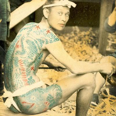 Tattooed Man, C.1880--Photographic Print