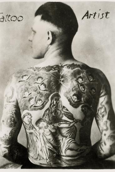 Tattooed Man, New York--Photographic Print