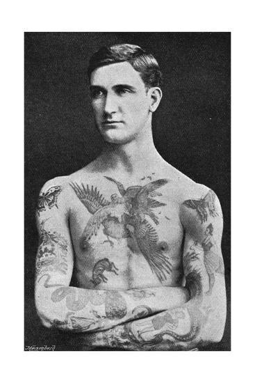 Tattooed Masterpiece by Mr. Sutherland Macdonald of Jermyn St--Giclee Print