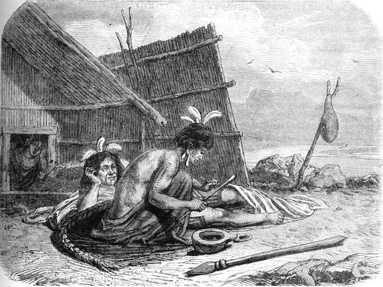 'Tattooing a Maori Chief', c1880-Unknown-Giclee Print