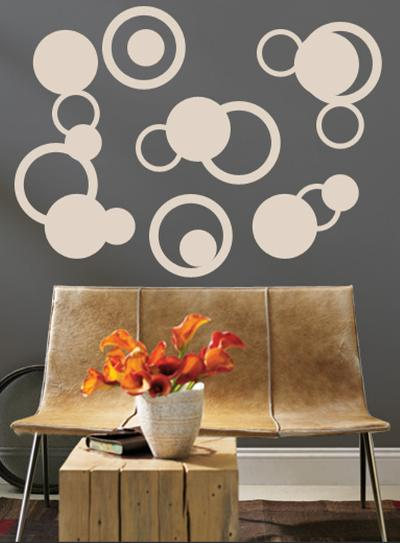 Taupe Rings--Wall Decal