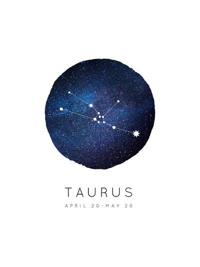Taurus Zodiac Constellation-Rebecca Lane-Art Print