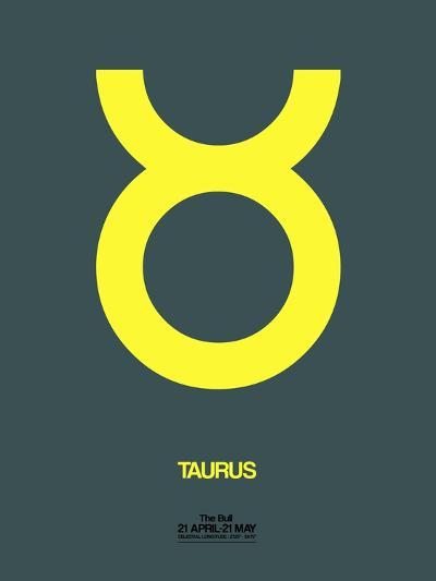 Taurus Zodiac Sign Yellow-NaxArt-Art Print