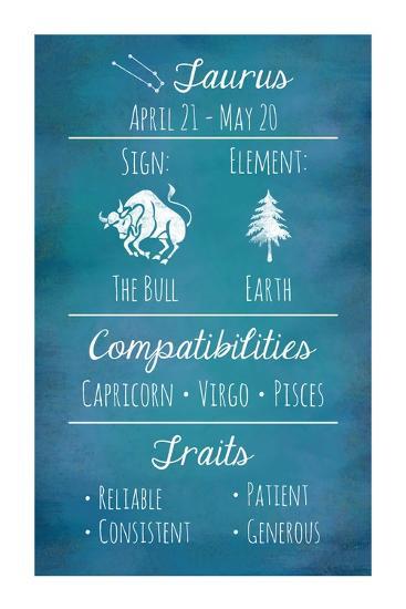 Taurus Zodiac Sign-Veruca Salt-Art Print