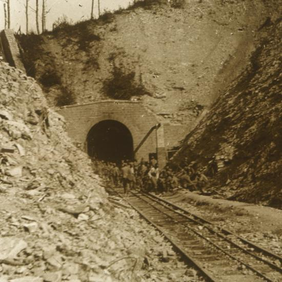 Tavannes Tunnel, Verdun, northern France, c1914-c1918-Unknown-Photographic Print