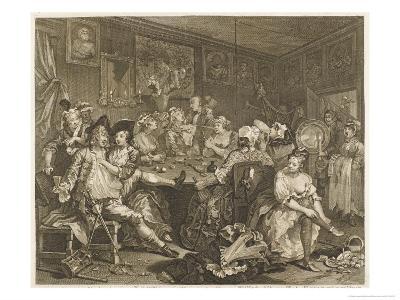 Tavern Scene Illustration to the Rakes Progress-William Hogarth-Giclee Print