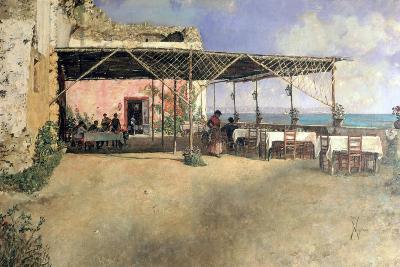 Taverna at Posillipo, 1886-Vincenzo Migliaro-Giclee Print