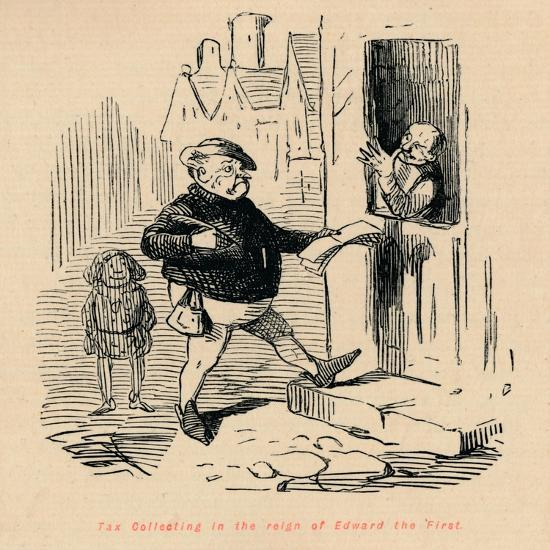 'Tax Collecting in the reign of Edward the First', c1860, (c1860)-John Leech-Giclee Print